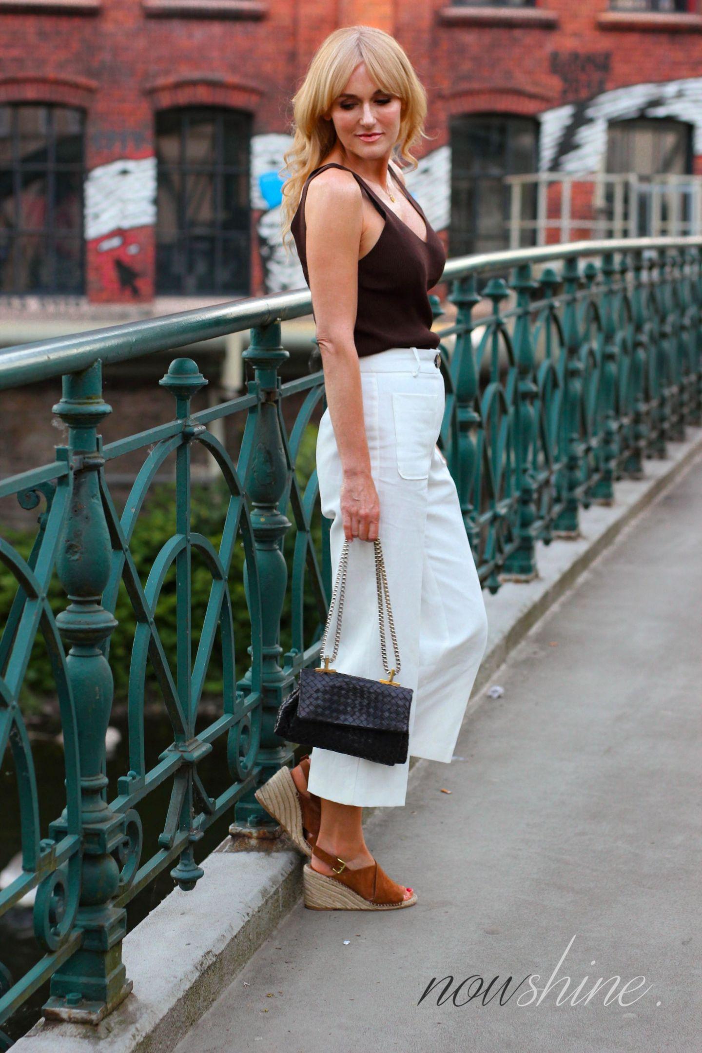sommerliches Outfit mit Sandalen von H&M Premium - Nowshine ü40 Fashion Blog
