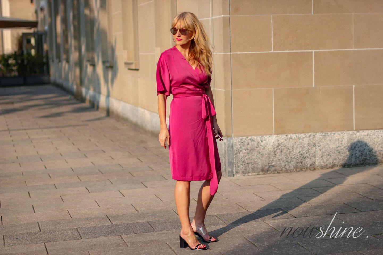Wrap Dress - Wickelkleid im Kimono Stil von Edited - Nowshine ü 40 Blog