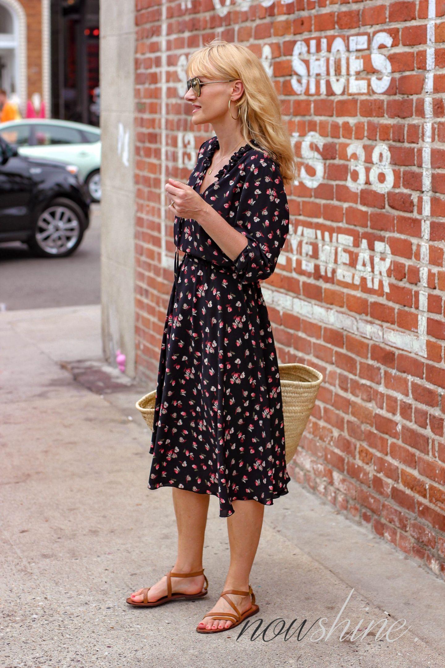 Aus dem WENZ Katalog -Cali Feeling Kleid mit Blumen -Nowshine ü 40 Mode