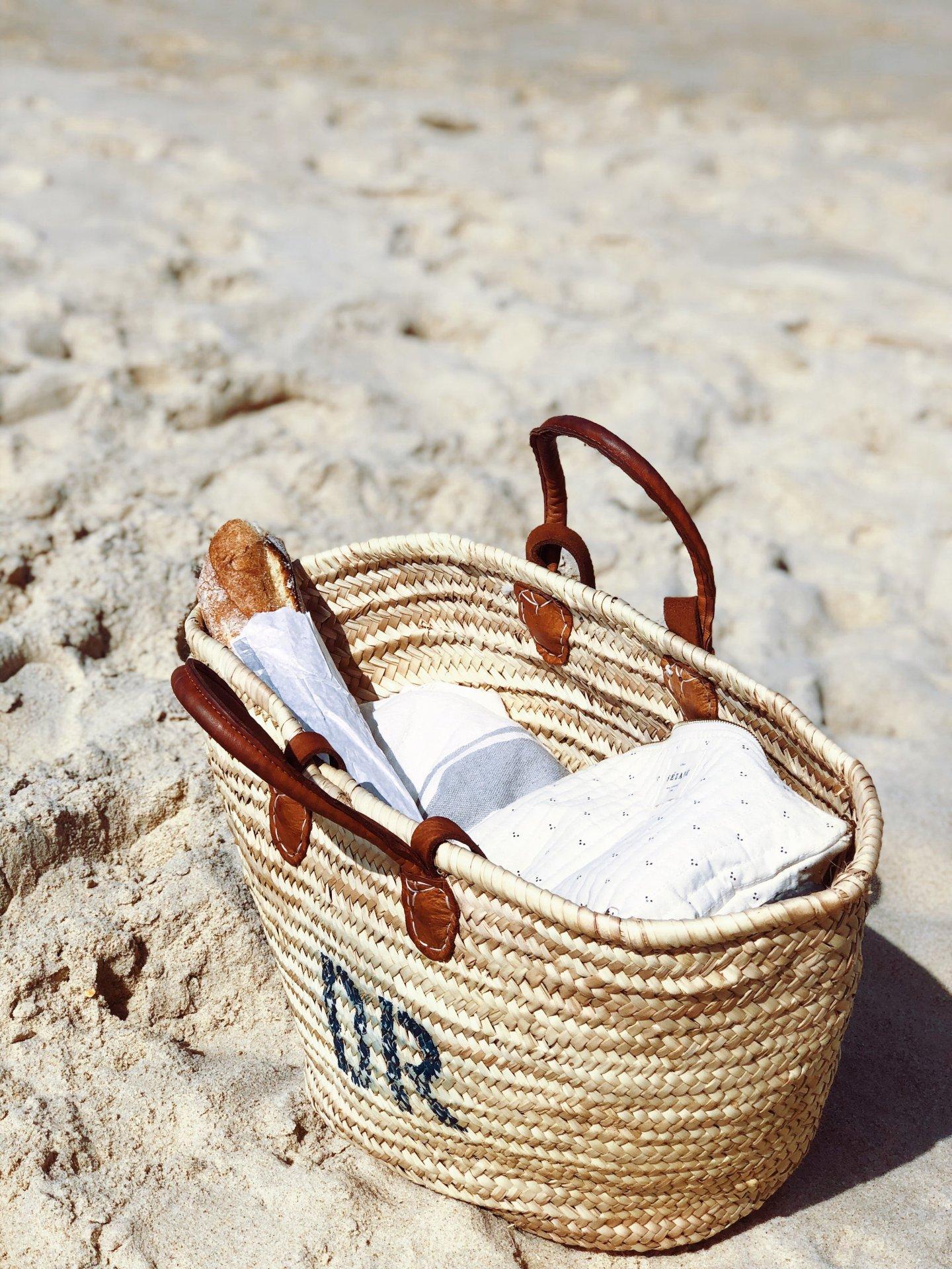 Einfache Meditation, Anleitung, Korb am Strand,