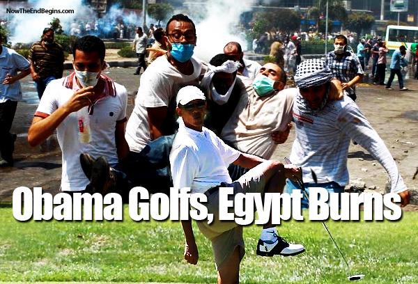 obama-golfs-nile-runs-red-egypt-burns-muslim-brotherhood