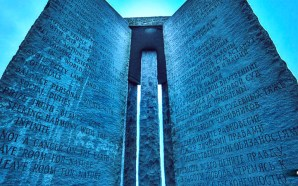 """One of the most interesting aspects of the Georgia Guidestones, to me, is that their number one commandment is to """"maintain the world population at 500 million people"""". Is it a coincidence then that the richest man on the face of the earth, Bill Gates, number one priority is population control through the use of mandated vaccinations? The rabbit hole deepens..."""