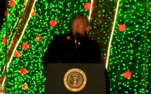 president-trump-christmas-tree-lighting-speech-2018-red-laser-lights-floating-kill-shot