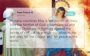 pope-francis-month-may-mary-queen-heaven-catholic-church-idol-worship