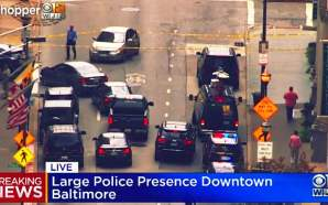 Baltimore police discovered a van loaded with 1,000 gallons of gasoline Monday morning and are evacuating several office buildings from the Inner Harbor — where emergency officials are urging people to stay away, city council members confirmed.