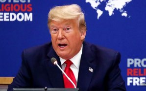 President Donald Trump led a United Nations event promoting religious freedom on Monday, reminding world leaders that all rights came from God.
