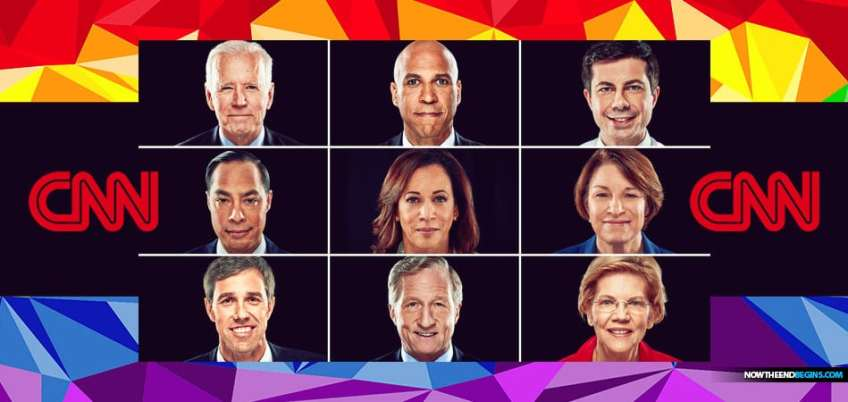 CNN tonight hosted nine back-to-back town halls with 2020 Democratic presidential candidates. The candidates took questions on lesbian, gay, bisexual, transgender and queer issues from a live studio audience.