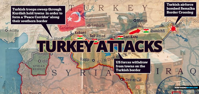 Turkey fires first shots: Ankara bombs Kurdish supply route ahead of invasion to create a 'peace corridor' along border just hours after Trump pulls US troops - as president reveals he has invited Erdogan to the White House next month