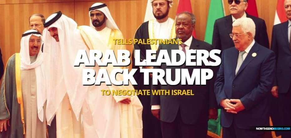Arab leaders back Trump peace plan tells Palestinians to negotiate with Israel