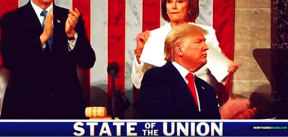 Nancy Pelosi dramatically ripped up her copy of Trump's speech on-camera.