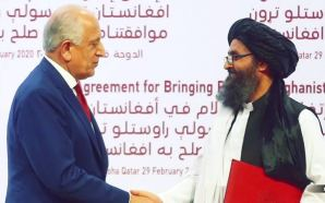 The United States and Taliban signed a peace deal Saturday in Qatar aimed at bringing an end to the war in Afghanistan.