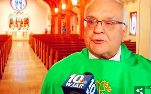 Roman Catholic priest Rev. Richard Bucci sparks outrage for saying 'pedophilia doesn't kill anyone, abortion does' after he banned 44 politicians from receiving communion because they are pro-choice.