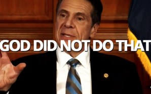 "While discussing the effects of COVID-19 on New York State, including a plateauing of total hospital admissions and a decline in net hospitalizations and ICU admissions, Democratic Gov. Andrew Cuomo said ""the number is down because we brought the number down. God did not do that...."""