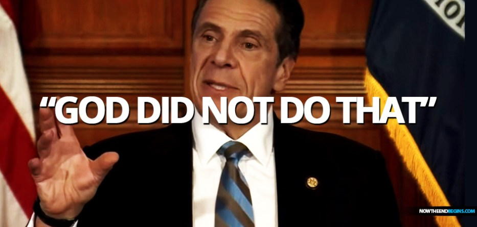 """While discussing the effects of COVID-19 on New York State, including a plateauing of total hospital admissions and a decline in net hospitalizations and ICU admissions, Democratic Gov. Andrew Cuomo said """"the number is down because we brought the number down. God did not do that...."""""""