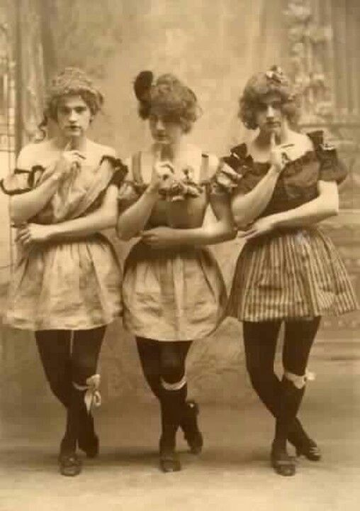Three Yale students show off their feminine side.