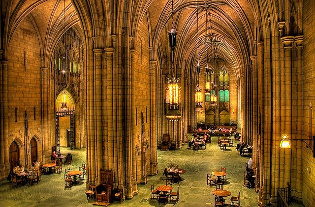 Young people who grew up associating education with Harry Potter's Hogwarts are drawn to the vaulted confines of the Cathedral of Learning. Public tour information is available here.