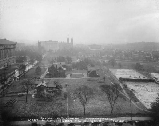 Frick Acres before it was cleared to make way for the Cathedral of Learning