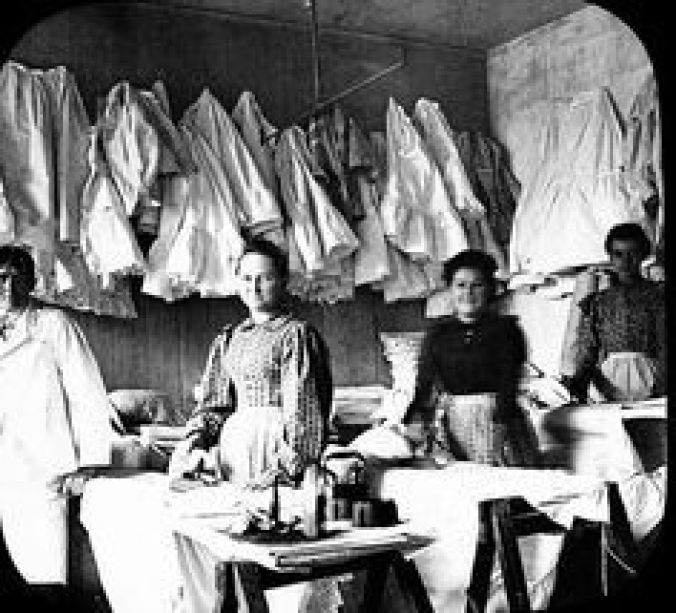 Many widows became washwomen and keepers of boarding houses