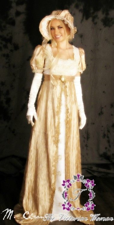 You can get this custom-made formal gown for $223. That doesn't include the hat (and everyone wore big hats) or the opera gloves. Click on photo to get details.