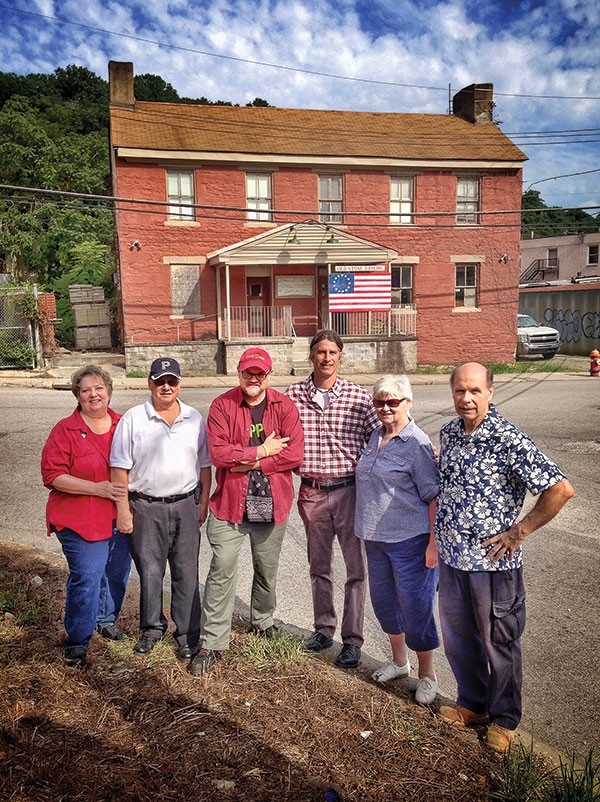 Members of Pittsburgh's Old Stone Tavern Friends Trust (from right): Paul Sentner, Norene Beatty, Cris Mooney, John McNulty, Rich Forster and Lorraine Forster
