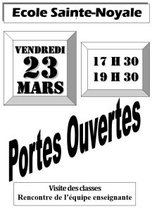 Portes ouvertes école Sainte-Noyale @ école Sainte-Noyale | Noyal-Pontivy | Bretagne | France