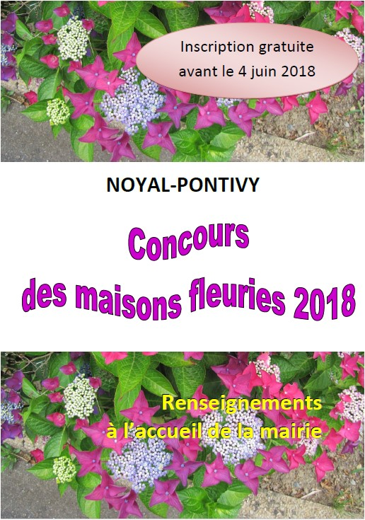 Concours Maisons fleuries 2018