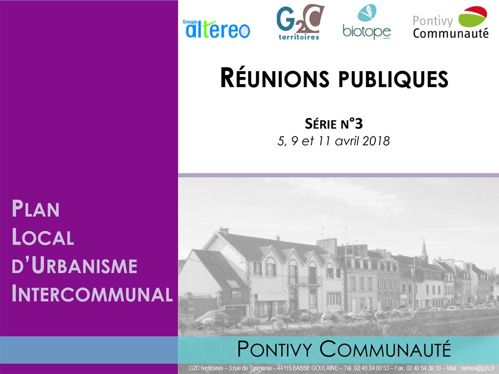 Support des réunions publiques relatif au Plan Local de l'Urbanisme Intercommunal