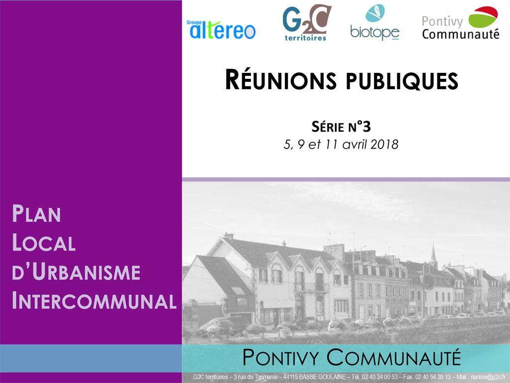 Support des réunions publiques relatif au Plan Local de l'Urbanisme Intercommunal