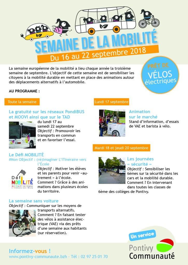 programme Semaine de la mobilité 2018