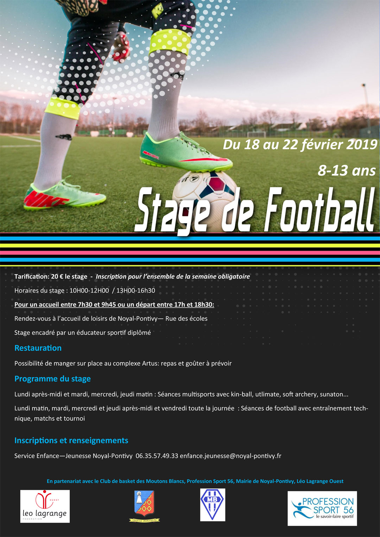 Stage Football de Février 2019