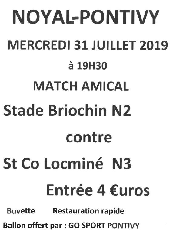 Match Amical Foot