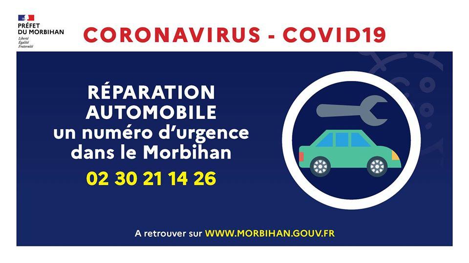 Réparation automobile - Un numéro d'urgence dans le Morbihan