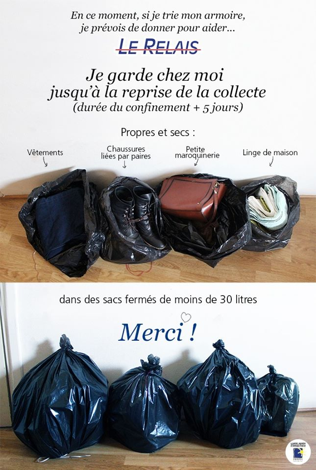 Suspension de la collecte des bornes textiles