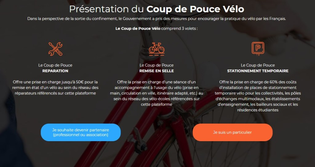 Présentation du Coup de Pouce Vélo