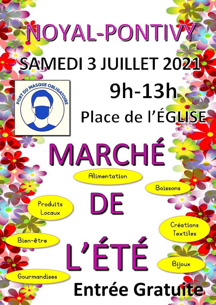 Affiche Marché d'Été 2021