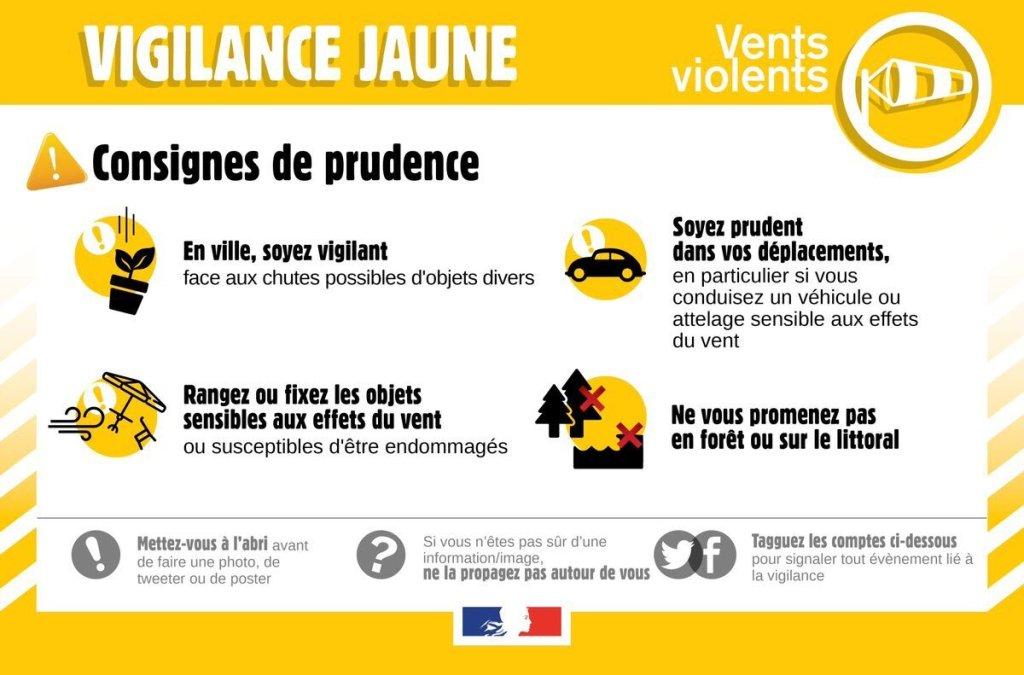 Vigilance jaune Morbihan