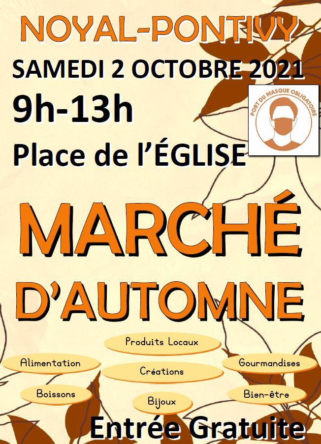 Affiche Marché d'automne 2021