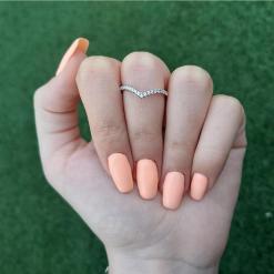 טבעת כסף וי