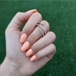 טבעת ספירלה כסף