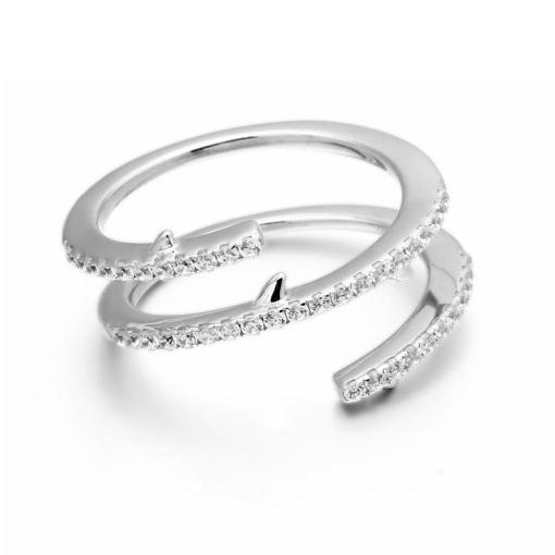 טבעת כסף ספירלה