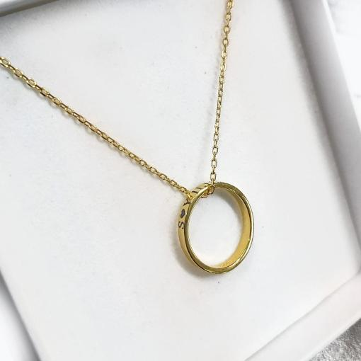 שרשרת טבעת זהב