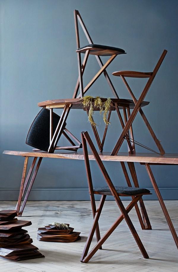 Spisebordsstol stablet på spisebord