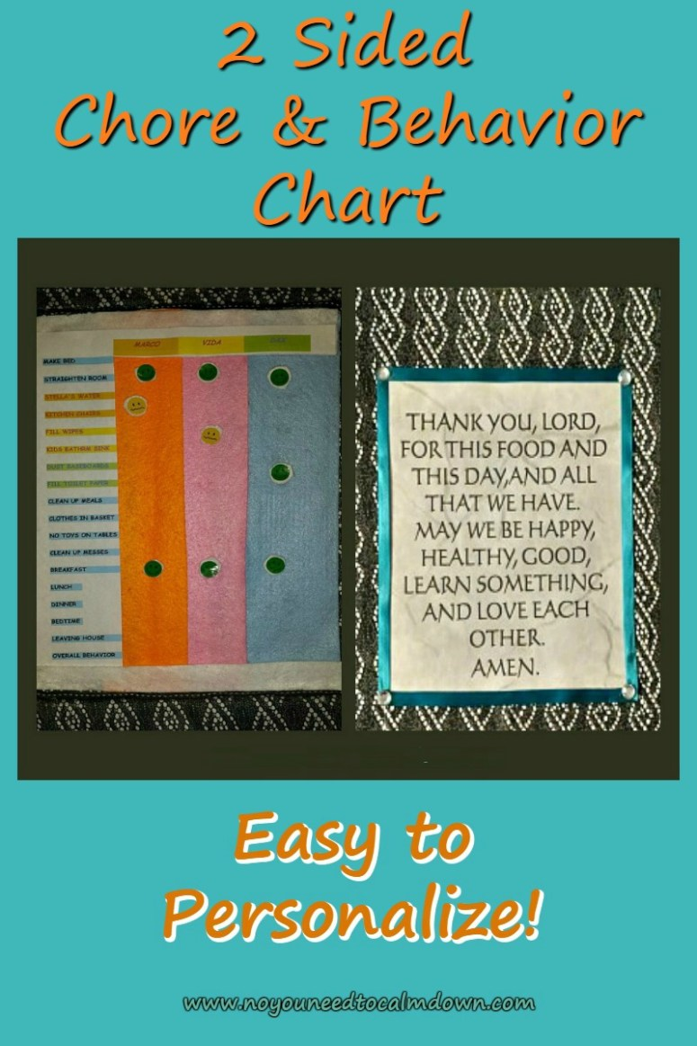 2 Sided Chore and Behavior Chart