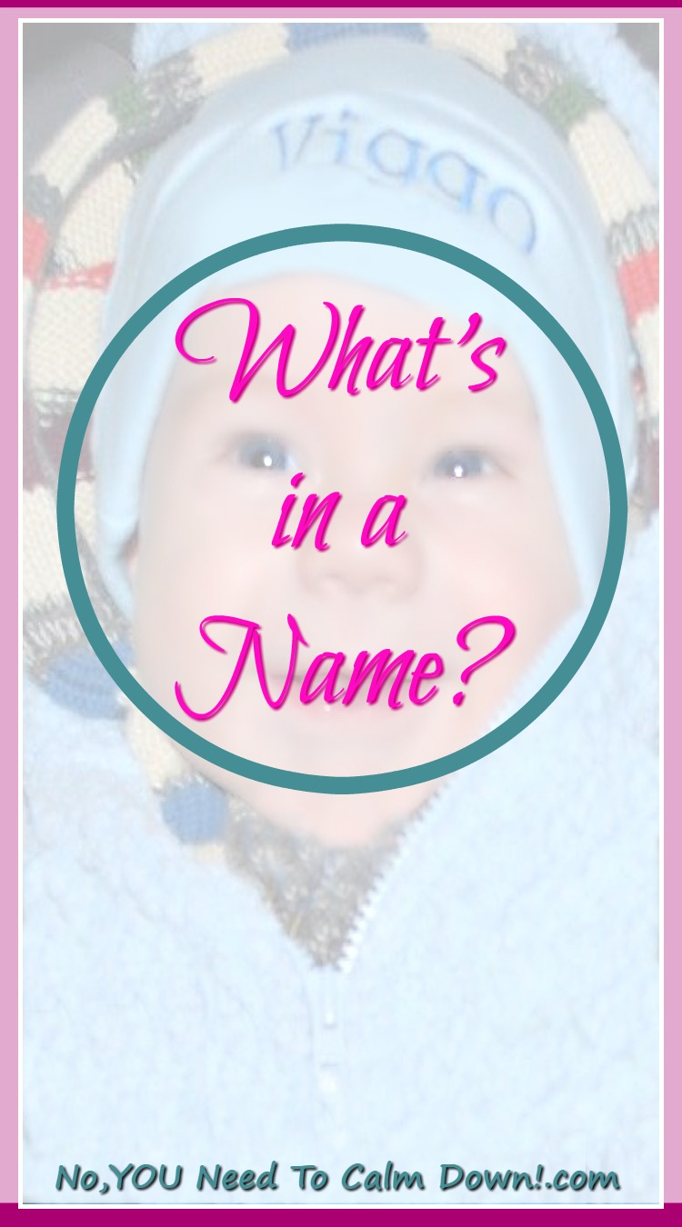 Have you looked through all of the baby name books, checking the meaning of each one? How much does that even matter? What's important is, you're giving them a piece of their identity.