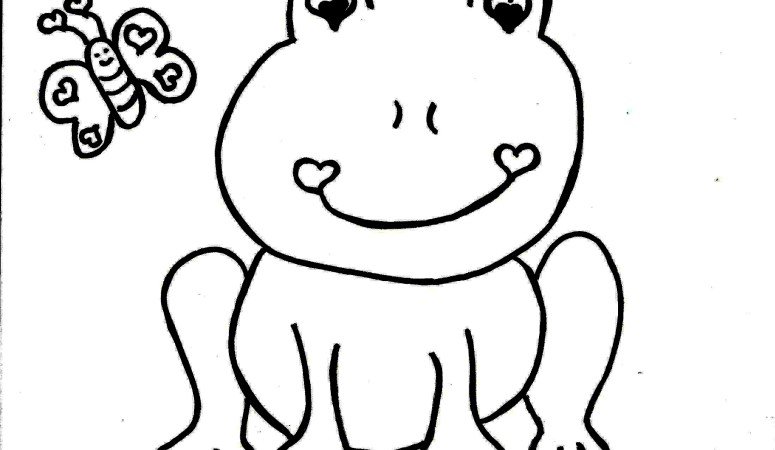 Cute Frog Valentine's Day Coloring Page – Free Printable