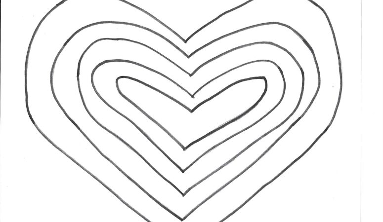 Heart Template 2 – Free Printable