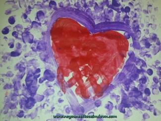 handprint heart valentine's day craft
