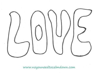 """LOVE"" Letters Template – Free Printable"