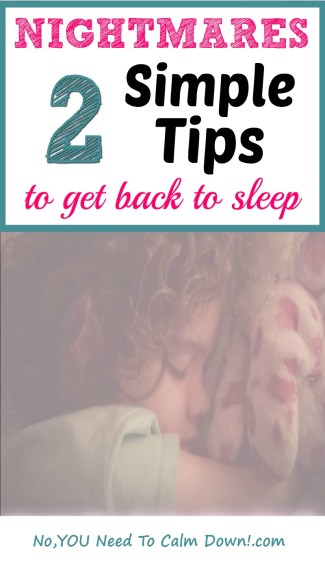 When your child is having nightmares, and you want to get everyone in the house some sleep, you may need a few tips and tricks to calm them. Here are 2 simple things you can do to help them fight the bad dreams.