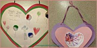 hanging hearts valentine's day craft